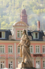 Statue in old town of Heidelberg Germany