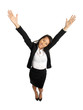 Asian Business Woman with open arms
