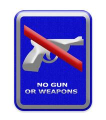 No gun or weapon sign