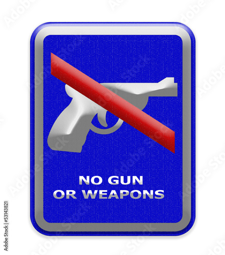 No gun or weapon sign