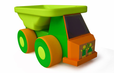 Funny Toy Lorry in 3D