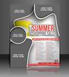 Vector sale brochure, flyer, magazine cover