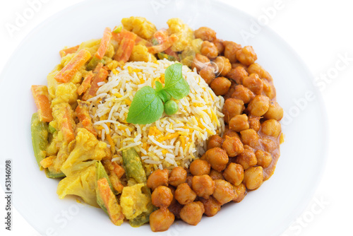 Vegetarian biryani rice