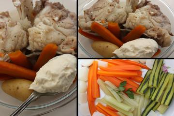 Lotte en Aïoli - Légumes cuisson vapeur