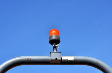 Orange Rotating Safety Light