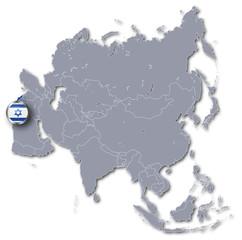 Asienkarte mit Israel