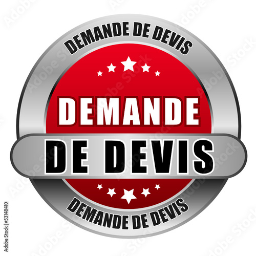 5 Star Button rot DEMANDE DE DEVIS