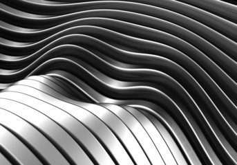 Abstract metal curve stripe metal background