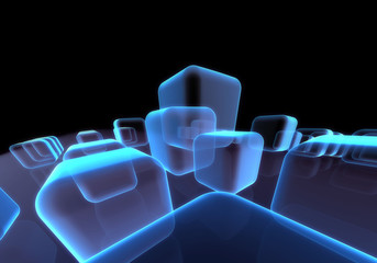 Dynamic squaret block background