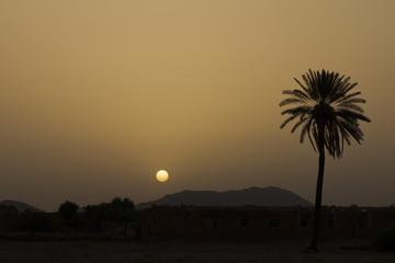 Morocco african sunrise desert view