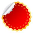 Vector red round sticker