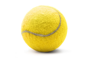Isolated tennisball on a white background
