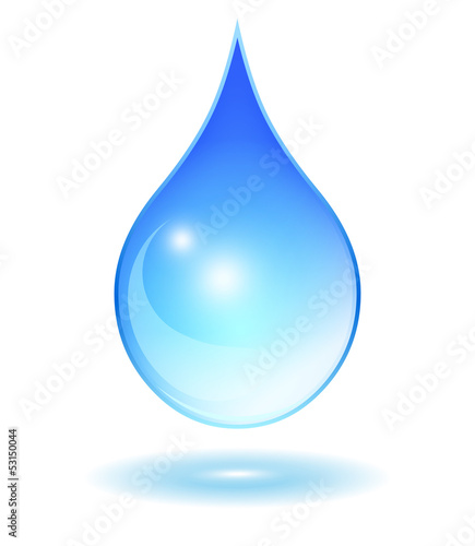 Vector glassy water drop