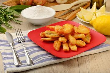 Piatto di pesce fritto