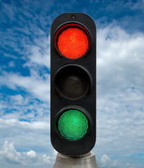 Red and Green traffic lights