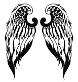 Hand drawn angel wings