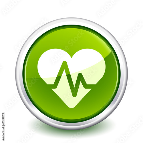 button green ecg