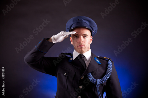 elegant soldier wearing uniform