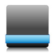 BLANK vector button (blue icon symbol template web internet)
