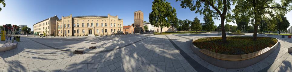 Rathausplatz in Prenzlau als 360 Grad Panorama