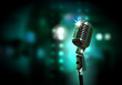 Leinwanddruck Bild - audio microphone retro style