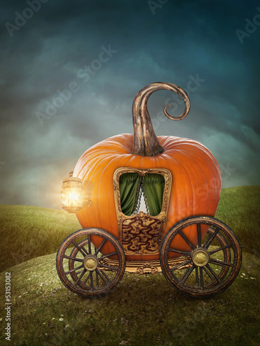 Pumpkin carriage - 53153082