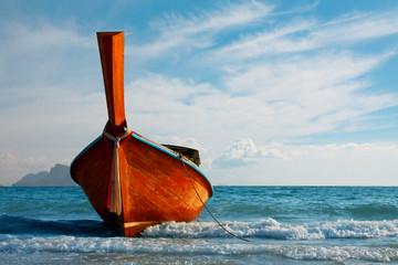 Traditional longtail boat at Andaman sea, Thailand