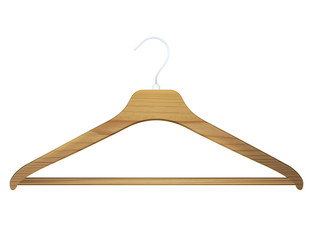 hanger on white background.