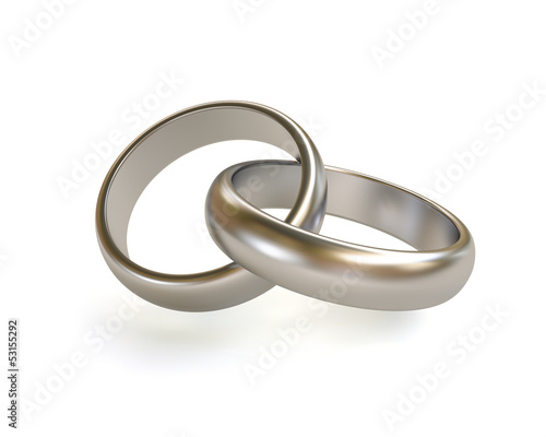 Platinum/silver wedding ring