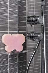 butterfly in a shower