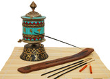 Oriental incense and Buddhist Stupka