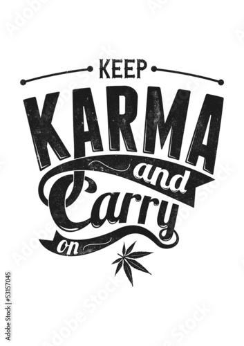 Poster Halten Sie Karma