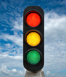 Red Yellow and Green traffic lights