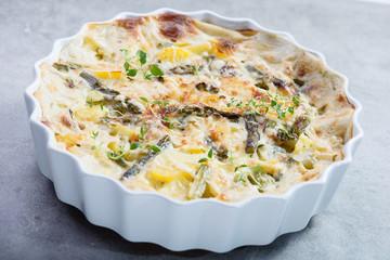 Frittata with asparagus
