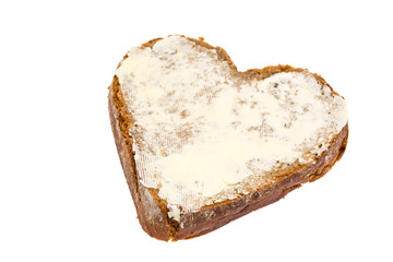 Butterbrot in Herzform
