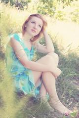 romantic pensive woman