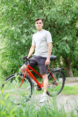 cyclist in the park