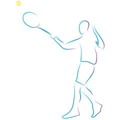 Tennisspieler - Mann spielt Tennis - Logo