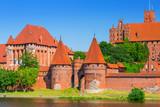 Fototapeta Malbork castle in summer scenery, Poland