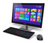 Desktop computer with touchscreen interface
