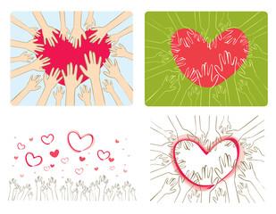 Hands reaching the heart