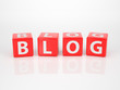 Blog out of red Letter Dices