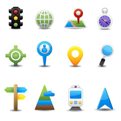 Location and map icons