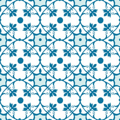 Seamless Tile Pattern in blue
