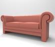 Modern sofa isolated on white background