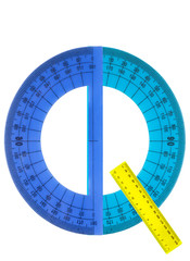 Alphabet rulers and protractors