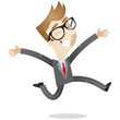 Businessman, jumping, happy, joyful, celebrating