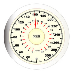 Bathroom Scales dial.