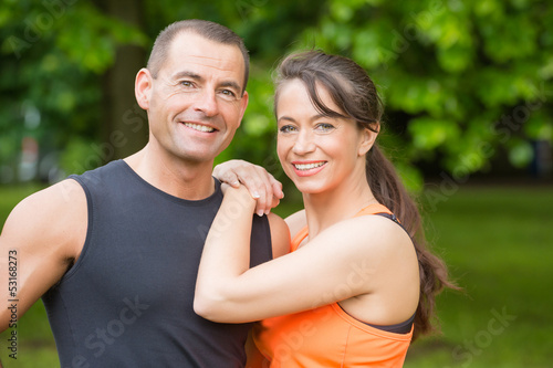 Happy sport couple