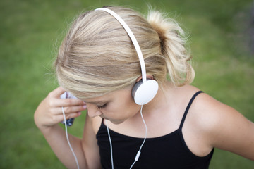 Girl listening to musci